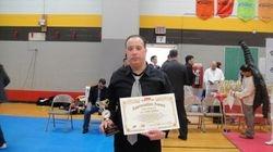 Master Felix getting an award 04/03/2011