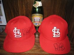 2005 and 2006 Game Used Home Hats Signed by Albert Pujols