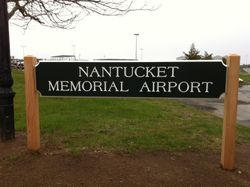 New airport sign