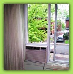 Window AC installed