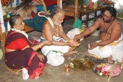 Sankalpam to T.R.Viswanatha gurukkal and his wife smt Kamalambal