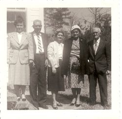 Lettie Bell, Dennis McCoy, Margaret, Statha, and James McCoy Ainsley 1959