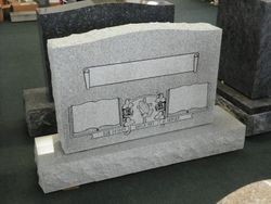 Gray upright with panels ready for inscription