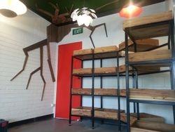 Organic Cafe Shelving & Wall Art.