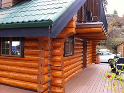 Residential Log House Staining