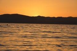 Lake Tahoe Yellow Sunset