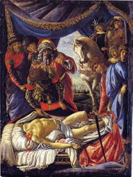 Botticelli, Discovery of the Dead Holofernes
