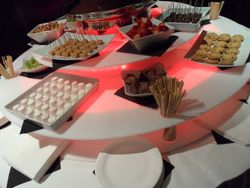Sweet Candy Dreams, light surround base and dipping foods