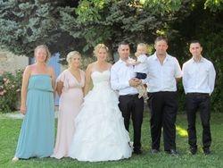 Photo témoins et les mariés