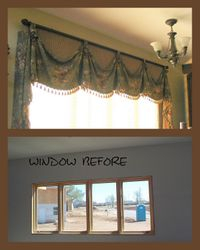 Nook window treatment.