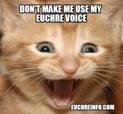 Don't make me use my Euchre voice.