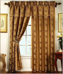 Valance and Curtains on One Rod (A-008)