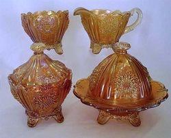 Dahlia table set, marigold