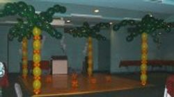 Dance Floor Balloon Decor Palm Trees