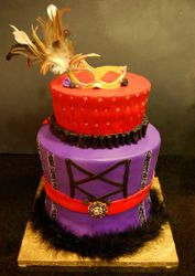 Masquerade themed Cake