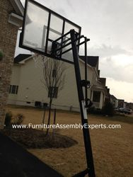 portable basketball hoop assembly service in towson md