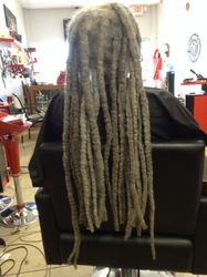 Bee Cuts Dreads to make even.