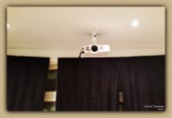 Projector ceiling mount installation