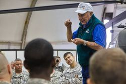 General Chuck Yeager at Adari Airbase, Kuwait