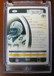 Reggie White 2004 Playoff Prime Signatures Auto RARE Numbered to 92/92- His Jersey Number