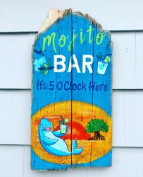 Outdoor Pool Bar Sign