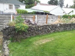 BEFORE retaining wall installation