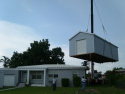 12x30 craned in over the house