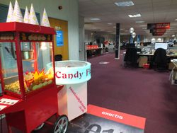 Popcorn and candy floss hires are a great addition to any floor walker marketing.