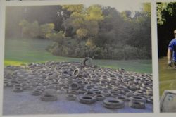 tires from Connoquenessing Creek