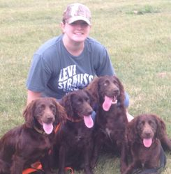 Paige with dogs- Lazzy, Kizzie, Possom, and Scamp