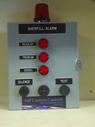 multi-tank overfill alarm w/test button