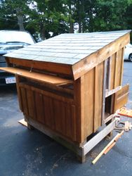 small chicken coop - back/side view