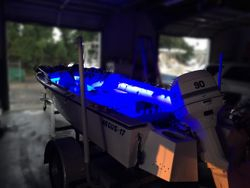 Negus 17 with 33 ft of Race Sport blue LED