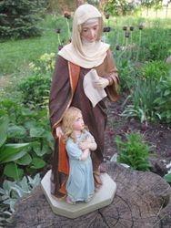 Sv. Ona su Marija. Kita puse. Kaina 91 Eur.