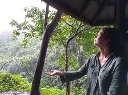 Rainy day for Bess Christie (Ubud Monkey Forest, Bali, June 2019)