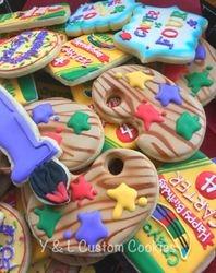 Birthday Cookies Art Crayola Painting Theme