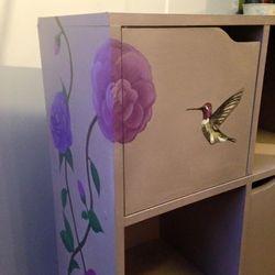 Flowers and hummingbird