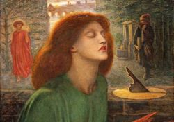 Rossetti, Beata Beatrix, 1872, detail, Chicago