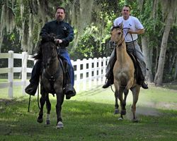David and Dustin riding DP and Holly