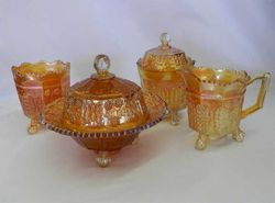Butterfly and Berry 4 pc. table set, marigold