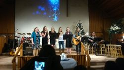 Teen Sunday School class sings