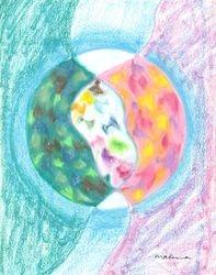 Enriched Through Relationship Mandala, Oil Pastel, 11x14, Original Sold