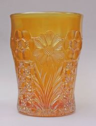 Cosmos and Cane, in marigold, U.S. Glass