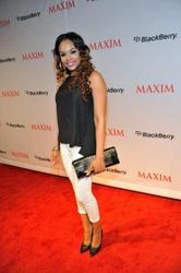 Demetria McKinney attends the Maxim Blackberry Madness Event