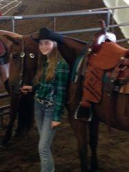 Olivia's saddle