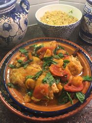 Tagine with Apricots, Chicken & Ginger