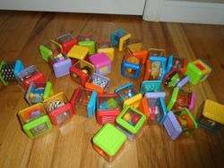 Fisher Price Peek-a-Blocks- Bag of 16 different blocks - $20