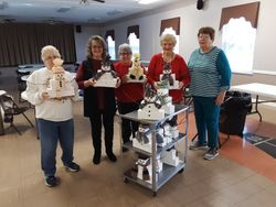 Snowman Center pieces Given away at Meeting.