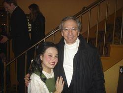 After Albert Herring with maestro Arthur Fagen