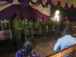 The Congregation Choir rehearses the day before the dedication